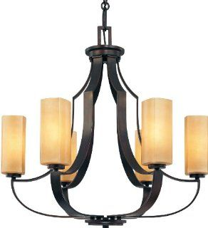 Minka Lavery 4476 Traditional / Classic Six Light Chandelier from the Kinston Collection, Aged Kinston Bronze