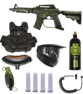 US Army Alpha Black Tactical Paintball Marker Gun 3Skull Infantry Set  Sports & Outdoors