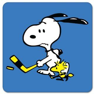 "Snoopy and Woodstock Hockey bumper sticker decal 5""x 5"" Automotive"