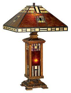 John Timberland® Mica Tiffany Style Mission Table Lamp