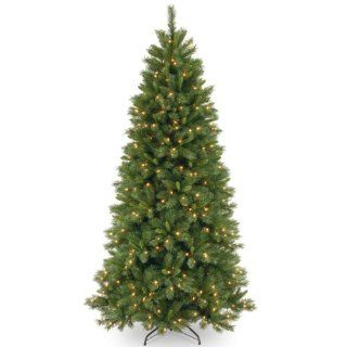 National Tree (LVP7 307 75) Lehigh Valley Pine Hinged Tree with 500 Clear Lights, 7 1/2 Feet   Christmas Trees