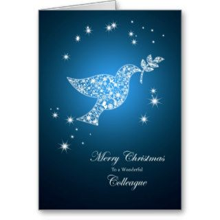 Colleague, Dove of peace Christmas card