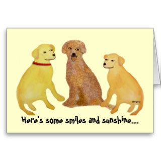 Golden Labrador Retrievers Get Well Card