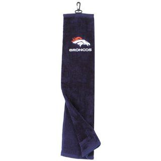 NFL Denver Broncos Embroidered Tri Fold Golf Towel  Sports & Outdoors