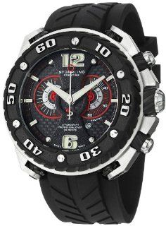 Stuhrling Prestige Men's 322B.332D62 Prestige Maverick Swiss Chronograph Diver Stainless Steel Case Rubber Strap Watch Watches