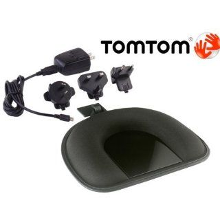TOMTOM ORIGINAL OEM DASHBOARD MOUNT & USB CABLE HOME CHARGER AC ADAPTER KIT W/INT'L CONNECTIONS FOR TOMTOM GPS NAVIGATORS. COMPATIBLE WITH TOM TOM ONE 125 130 140 145 S XL 325 330 335 340 350 355 S XXL 535 540 550 TM T WTE GO 520 530 540 550 620 63