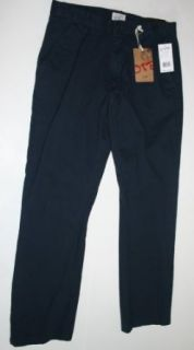 OTB Men's Casual Dress Pants Size 34/32 Navy at  Men�s Clothing store