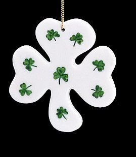 "Shop 3"" Luck of the Irish Ivory Shamrock Porcelain Christmas Ornament at the  Home D�cor Store. Find the latest styles with the lowest prices from Kurt Adler"
