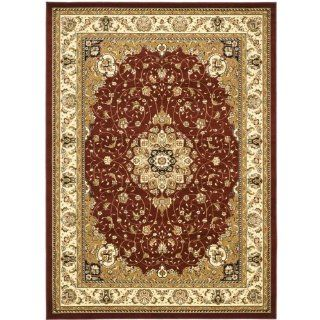 Shop Safavieh Lyndhurst Collection LNH329C Red and Ivory Area Rug, 9 Feet by 12 Feet at the  Home D�cor Store