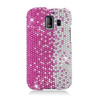 Eagle Cell PDHWU8665S322 RingBling Brilliant Diamond Case for Huawei Fusion 2 U8665   Retail Packaging   Hot Pink/Silver Divide Cell Phones & Accessories