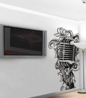 Vinyl Wall Art Decal Sticker DJ Style Microphone Mic 8ft #328   Wall Decor Stickers