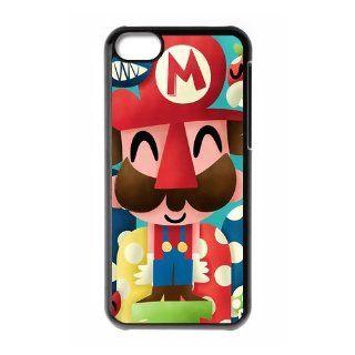 Custom Super Mario New Back Cover Case for iPhone 5C CLR340 Cell Phones & Accessories