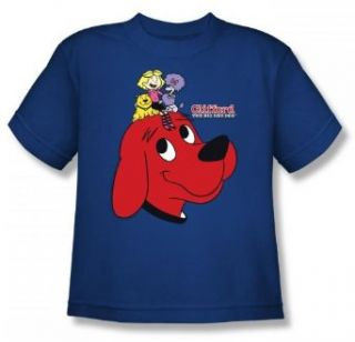 Clifford The Big Red Dog   Clifford And Friends Youth T Shirt In Royal, Size X Large, Color Royal Clothing