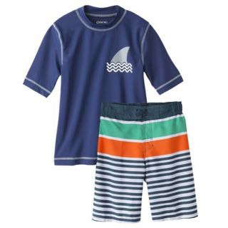 Cherokee® Boys Short Sleeve Shark Fin Rashg