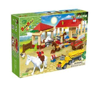BanBao Horse Stables Toy Building Set, 338 Piece Toys & Games