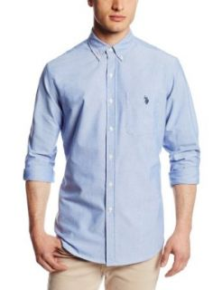 U.S. Polo Assn. Men's Slim Fit Long Sleeve Solid Oxford Button Down Shirt at  Men�s Clothing store
