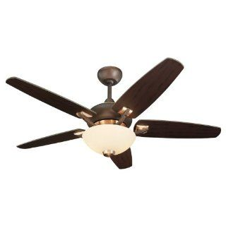 Monte Carlo 5VSR44RID L Versio II 44 Inch 5 Blade Ceiling Fan with Remote and Light Kit, Roman and Iberian Bronze Finish