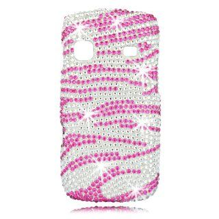 Talon Full Diamond Bling Phone Shell for Samsung M580 Replenish   Zebra  Hot Pink   Sprint   1 Pack   Case   Retail Packaging   Hot Pink/Silver Cell Phones & Accessories