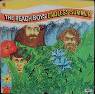 BRIAN WILSON BEACH BOYS ENDLESS SUMMER SIGNED ALBUM COVER W/ VINYL CERTIFICATE OF AUTHENTICITY PSA/DNA #T22177 Entertainment Collectibles