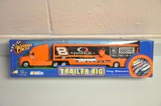 2003 Tony Stewart #8 Three 3 Doors Down Chance II Motorsports Dale Earnhardt Jr Owned Team Hauler Trailer Transporter Semi Tractor Rig Truck 1/64 Scale Winners Circle Metal Cab, Plastic Trailer Toys & Games