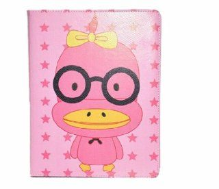 Angelseller XKM New Stylish Cute Cartoon Animal Red Duck Pattern Series Flip Wallet Style PU Slot Leather With Adjustable Stand Case Protective Cover for Apple ipad 2/3/4 Cell Phones & Accessories