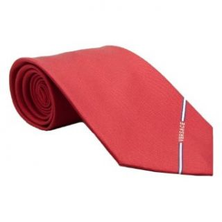 Versace VE BO358 0003 Red Solid Woven Silk Men's Tie at  Men�s Clothing store