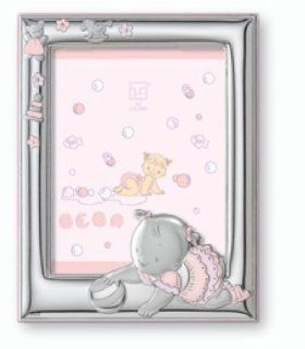 Silver Touch USA Sterling Silver Picture Frame, For A Girl  Nursery Picture Frames  Baby