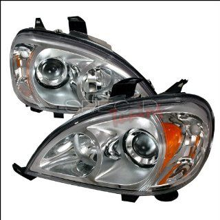 Mercedes W163 1998 1999 2000 2001 2002 2003 LED Halo Projector Headlights   Chrome Automotive