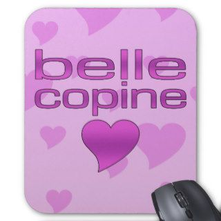 Belle Copine Pink & Purple Love Hearts Mousepad