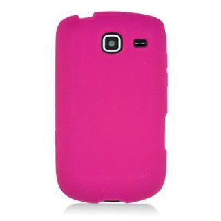 Hot Pink Silicone Jelly Skin Case Cover for Samsung Freeform 4 R390 Cell Phones & Accessories