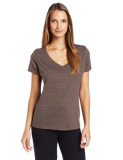 Jockey Women's V Neck Sleep Tee, Solitary Stripe, Large