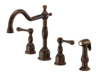 Danze D422057BR Opulence Two Handle Kitchen Faucet with Spray, Tumbled Bronze   Touch On Kitchen Sink Faucets