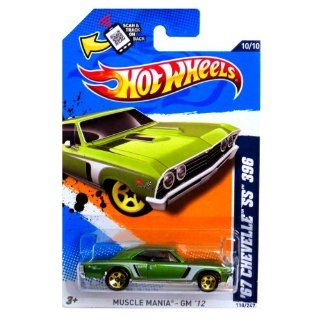 Mattel HOT WHEELS Muscle Mania GM '12 GREEN '67 CHEVELLE SS 396 10/10 Toys & Games