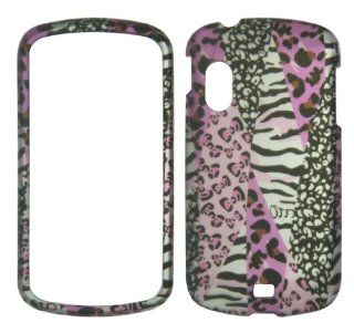 Pink Leopard Safari Zebra Samsung Stratosphere i405 /Galaxy Metrix 4G Case Cover Hard Phone Case Snap on Cover Rubberized Touch Protector Faceplates Cell Phones & Accessories