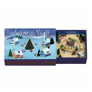 Mr. Christmas Matchbox Melodies Animated Music Box   Silent Night #78586   Jewelry Music Boxes