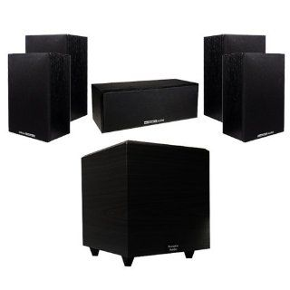 "Acoustic Audio 850W 5.1 Home Theater Surround Sound System w/5.25"" Speakers & 8"" Powered Sub Electronics"