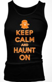 Emo Women's Keep Calm & Haunt On, Halloween Fit Tank Top Clothing