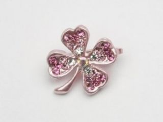 Lucky Clover   Baby Girl & Toddler Hair Clip   Pink Infant And Toddler Hair Accessories Clothing