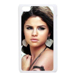 Selena Gomez Custom Case for iPod Touch 4, VICustom iTouch 4 Protective Cover(Black&White)   Retail Packaging Cell Phones & Accessories