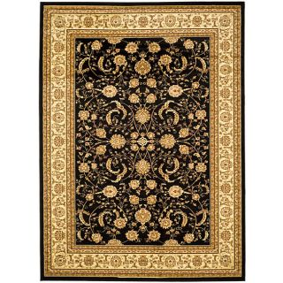 Lyndhurst Collection Black/ivory Area Rug (53 X 76)