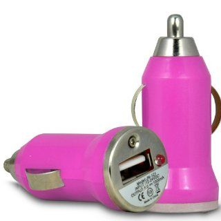 Fone Case HTC Droid DNA Rapid Bullet In Car USB Charger With Charging LED Light (Hot Pink) Cell Phones & Accessories