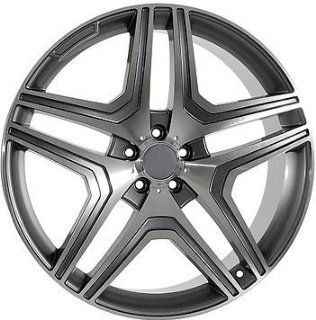 "22"" Wheels for Mercedes Benz ML ML430 ML500 GL GL450 set of 4 rims & caps and lugs Automotive"