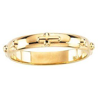 14k Yellow Gold Rosary Ring Right Hand Rings Jewelry