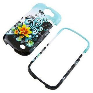 Yellow Lily Protector Case for Samsung Galaxy Express SGH i437 Cell Phones & Accessories