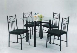 Shop 5pc Metal Dining Table & Chairs Set Black Finish at the  Furniture Store. Find the latest styles with the lowest prices from Acme Furniture