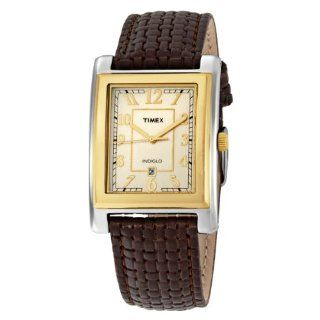 Timex Men's T2M439 Classic Brown Braided Leather Strap Watch at  Men's Watch store.