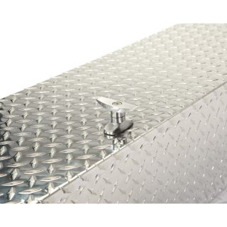 Aluminum Flush-Mount Side-Bin Truck Box — Diamond Plate, 60 1/2in.L x 12 1/2in.W x 10 1/2in.H  Side Mount Boxes