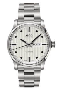 Mido M0054301103100 Watch Multifort Mens M005.430.11.031.00 White Dial Stainless Steel Case Automatic Movement Watches