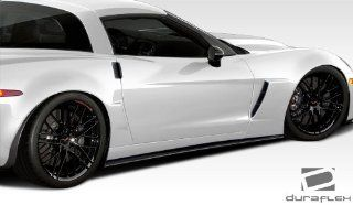 2005 2013 Chevrolet Corvette ZO6 GS ZR1 Duraflex GT500 Side Skirt Splitters   2 Piece Automotive