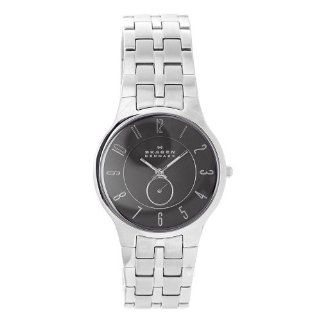 Skagen Men's 433LSXM Stainless Steel Black Dial Watch Watches